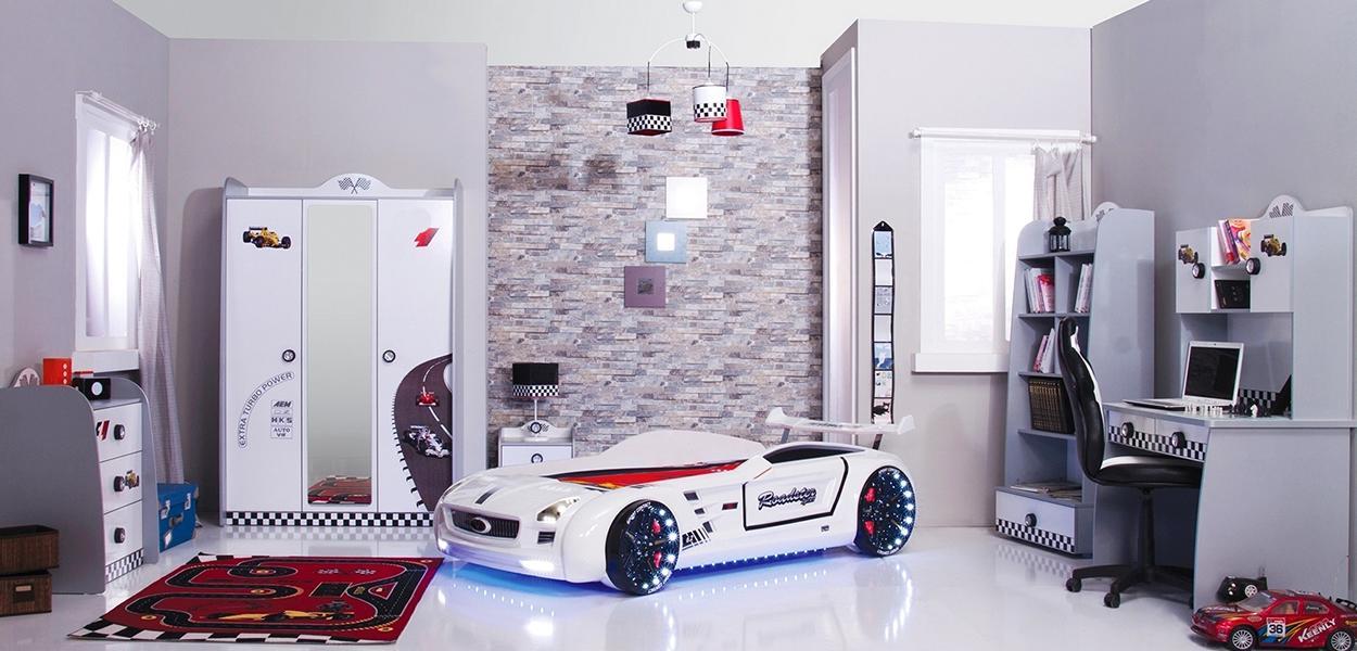 Kinderzimmer Mit Autobett – Dekoration Bild Idee