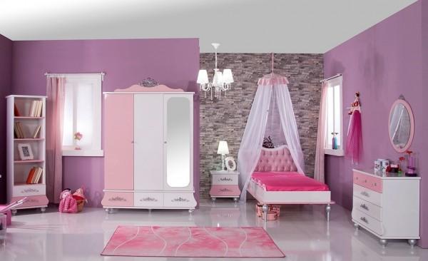 SPAR-SET8 Kinderzimmer ANASTASIA rosa, 7-teilig