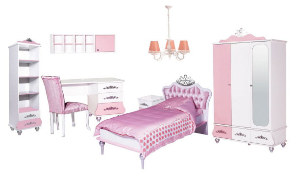 SPAR-SET6 Kinderzimmer ANASTASIA rosa, 8-teilig