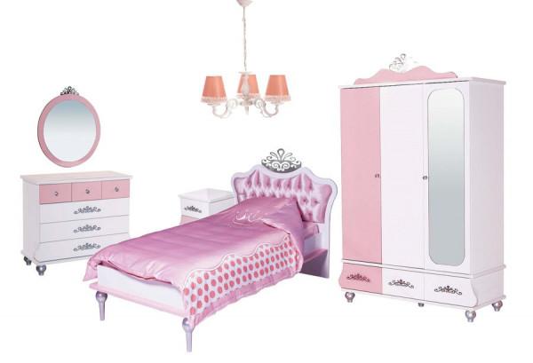 SPAR-SET5 Kinderzimmer ANASTASIA rosa, 5-teilig