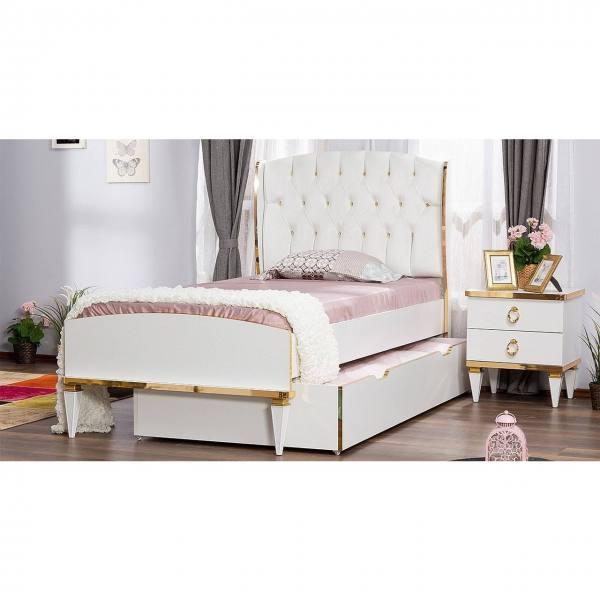 SPAR-SET Kinderbett RIXOS mit Bettschubkasten und Nachtkonsole