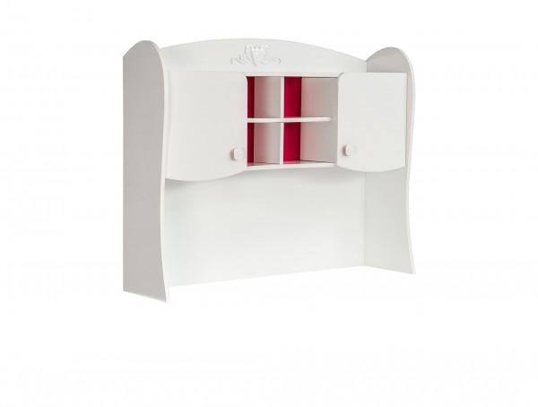 AUFSATZ für Schreibtisch SWEETY weiss/rot