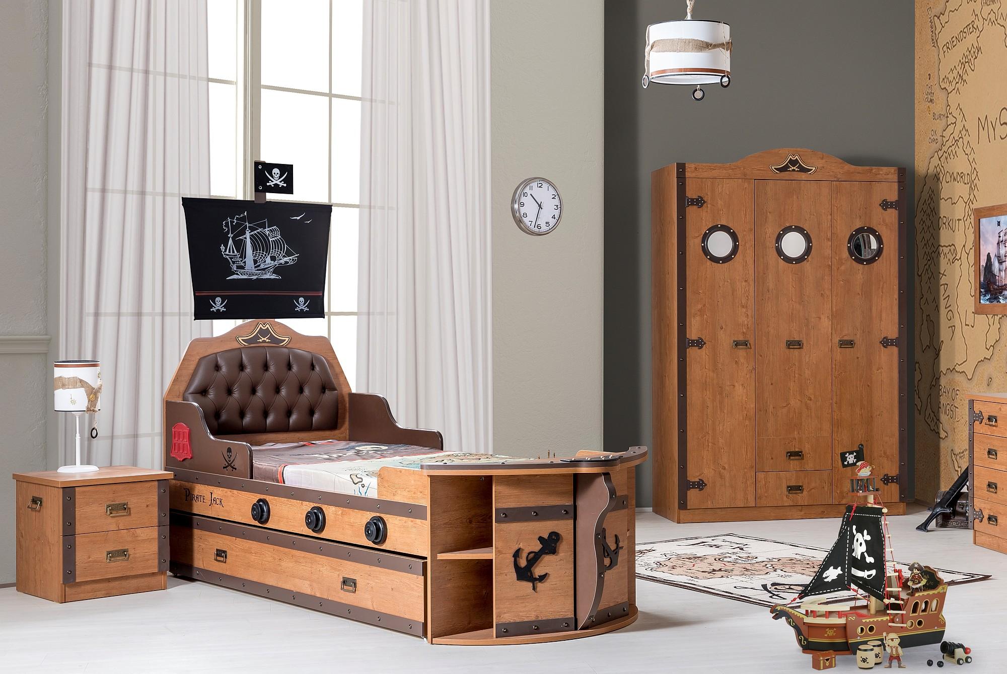 cilek pirat kinderzimmer oder schiffbett 90x200cm f r. Black Bedroom Furniture Sets. Home Design Ideas