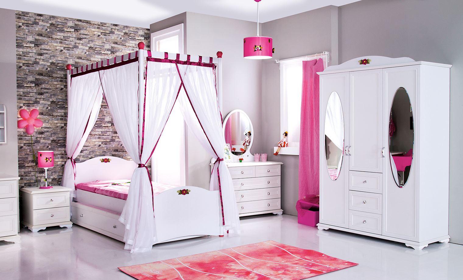 Romantisches Kinderzimmer CINDY in weiss für Mädchen mit ...