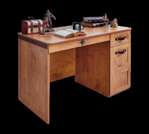 Schreibtisch PIRAT mit 2 Schubladen und Schrank
