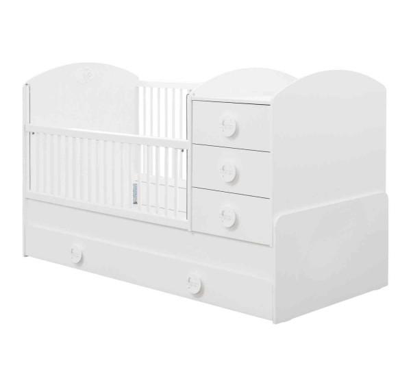 Umbaubares Babybett BABYCOTTON mit Bettschubkasten, 4-teilig
