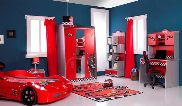 SPAR-SET6 Kinderzimmer TURBO rot, 6-teilig