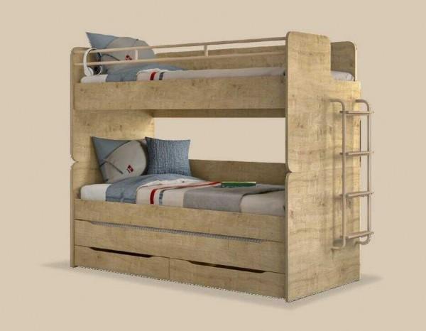 Multifunktion Kinder ETAGENBETT STUDIO 90x200cm mit Gästebett, Bettschubkasten und Leiter, umbaubar