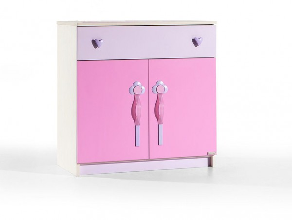Alfemo HEARTS Wäschekommode pink