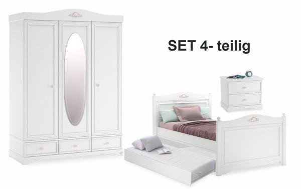 Komplett Kinderzimmer SET 4-teilig BELLAweiß