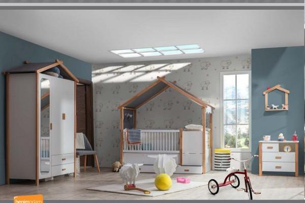 SPAR-SET Babyzimmer HOUSE, 4-teilig
