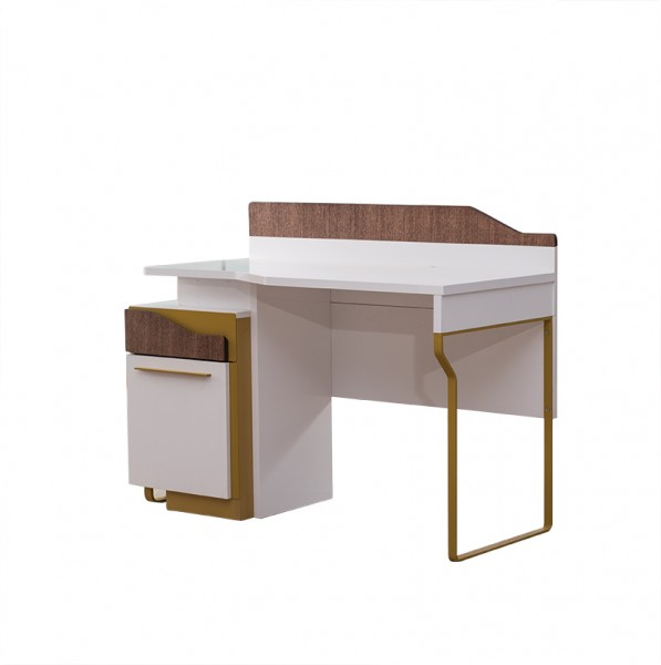 Schreibtisch MOKKA weiss/braun