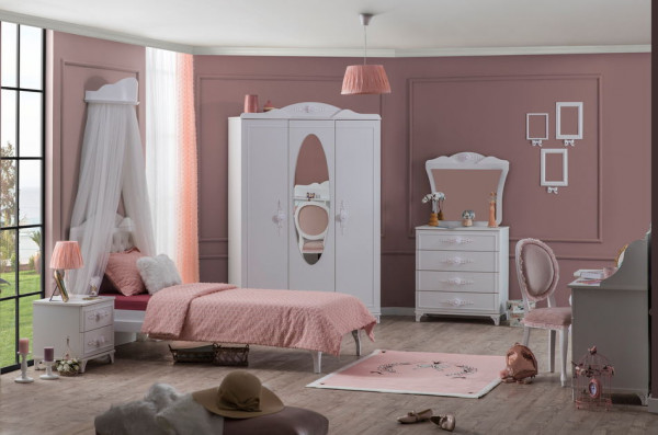 Komplettzimmer-Set PETTY weiß, 6-teilig