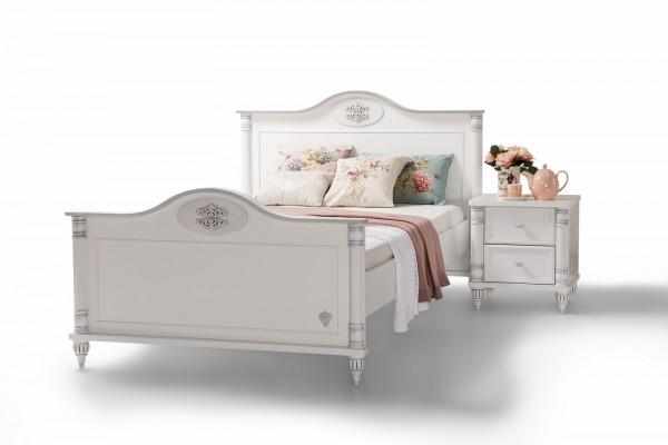 Kinderbett 120x200cm Romantic in weiss