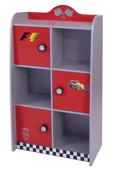 Bücherregal Turbo rot AUSLAUF