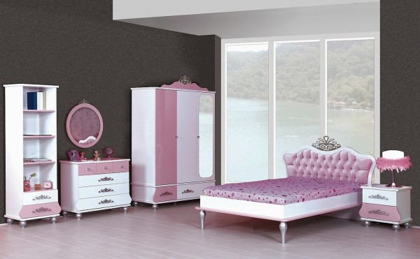 SPAR-SET4 Kinderzimmer ANASTASIA rosa, 6-teilig
