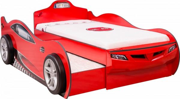 Autobett RACER DOUBLE rot inkl. Bettschubkasten