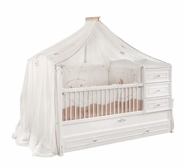 Himmelvorhang / Mosquitonetz für BABYAMORE Babybett