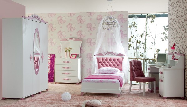 Kinderzimmer Komplett PRETTY 2 rosa - Sparset 5 tlg.