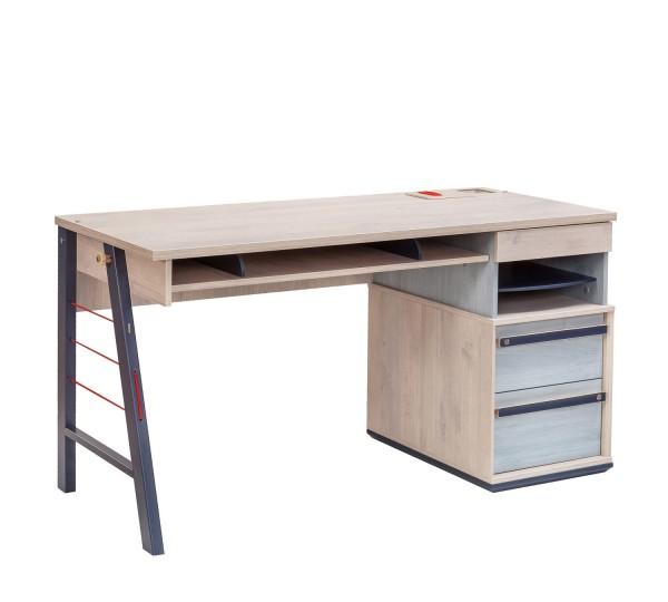 Schreibtisch TRINO XL natur/anthrazit - 141cm breit