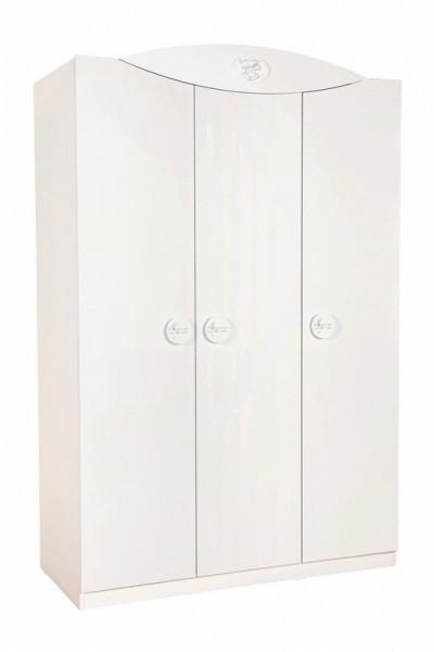 Kleiderschrank BABYCOTTON 3-türig weiß