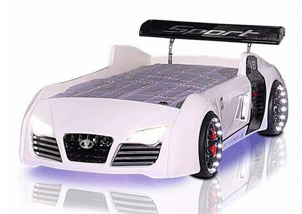 Autobett TURBO V8 weiss