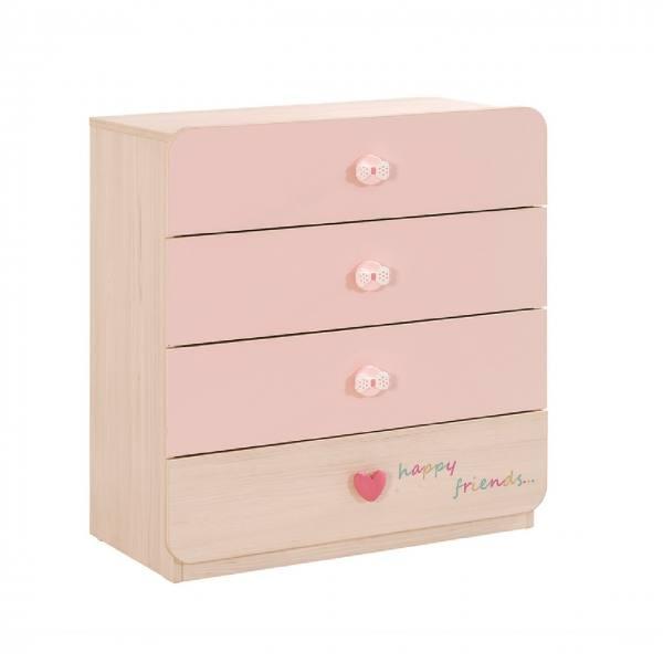 Wäschekommode BABYGIRL rosa