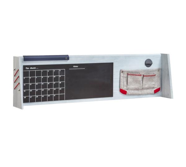 Aufsatz TRINO mit USB + Nachtleuchte für Schreibtisch XL grau/blau