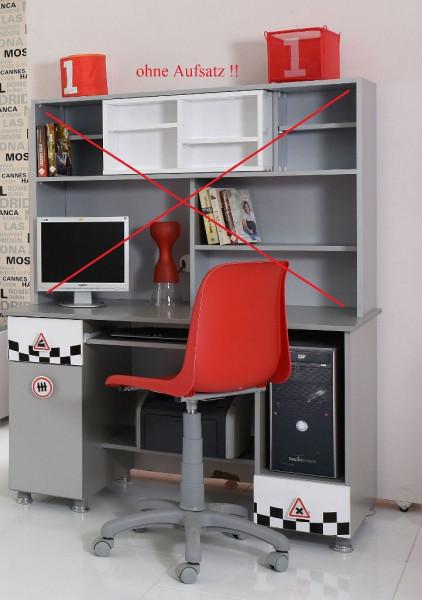 Autobettzimmer Schreibtisch weiß Aktionsware