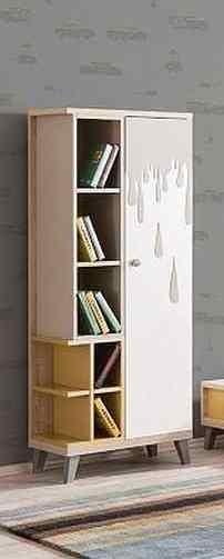 Bücherregal DAMLA in naturholz/beige
