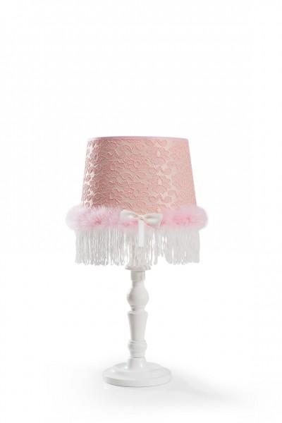 Tischleuchte ROSA in weiß/rosa