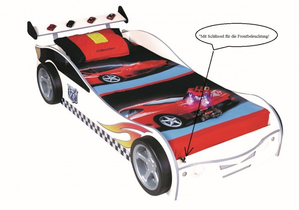 Autobett TURBO V4 weiss mit LED & Rost