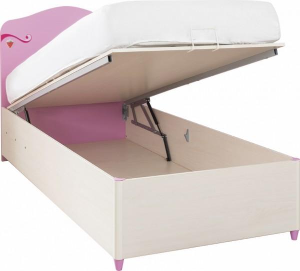Stauraumbett 90x190cm Princess pink