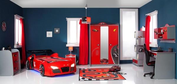 SPAR-SET3 Kinderzimmer TURBO rot, 7-teilig