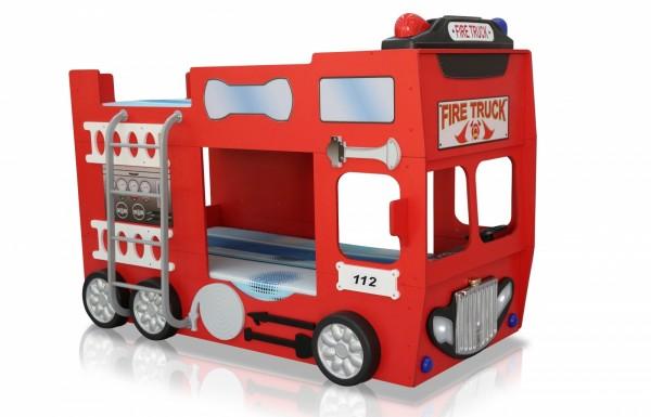 """Feuerwehrbett """"Firetruck double 90x190cm"""" rot"""