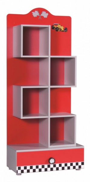 Bücherregal FORMULA rot AUSSTELLUNGSSTÜCK