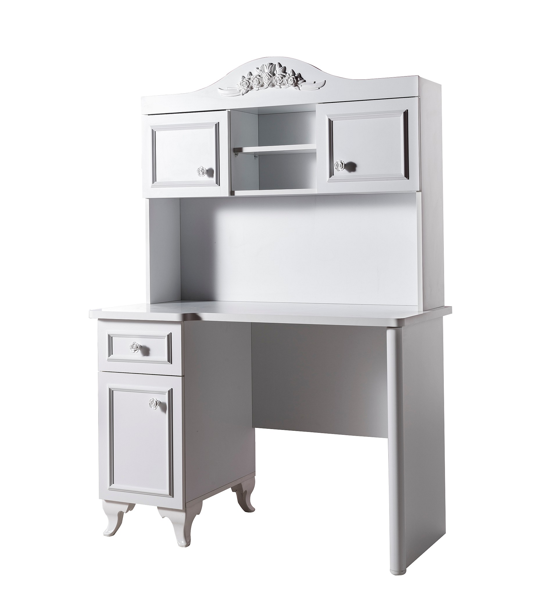 siena schreibtisch inkl aufsatz wei traum m. Black Bedroom Furniture Sets. Home Design Ideas