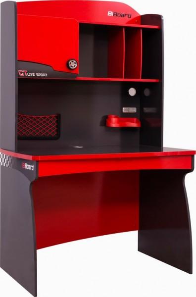 Schreibtisch mit Aufsatz RACER rot