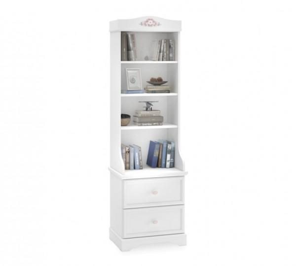 Bücherregal BELLA weiß mit Schubladen