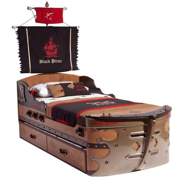 Blackpirate Schiffsbett 90x190cm für Kinder
