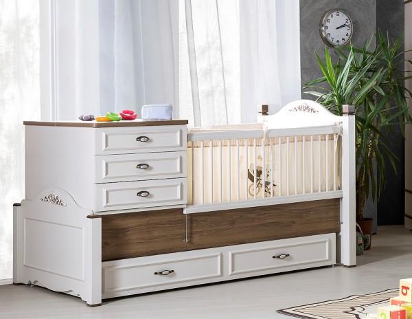 umbaubares Babybett in Jugendbett BABYCOUNTRY mit Bettschubkasten, 80x180cm