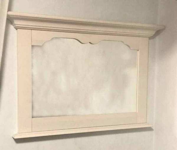 Firstloft Cinderella Wandspiegel kiefer massiv weiß