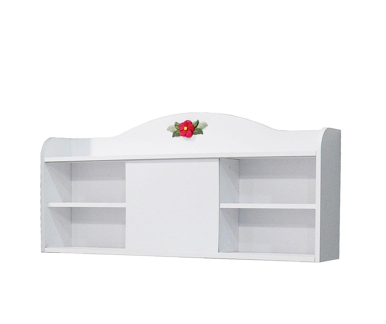 aufsatz f r schreibtisch cindy in weiss traum m. Black Bedroom Furniture Sets. Home Design Ideas