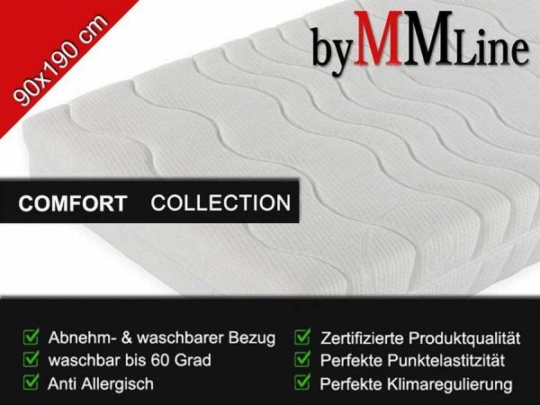 Kaltschaum Matratze 7-Zonen SLEEP COMFORT, 90x190cm