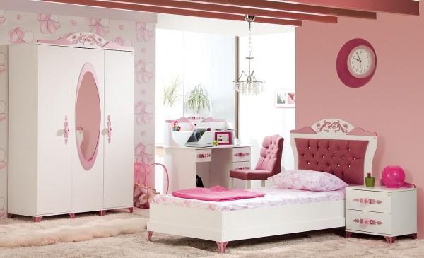 Komplett Kinderzimmer PRETTY 3 rosa - Sparset 4 tlg.