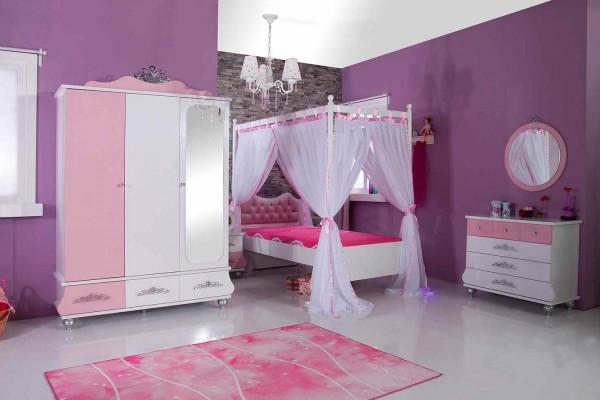 SPAR-SET8 Kinderzimmer ANASTASIA rosa, 5-teilig