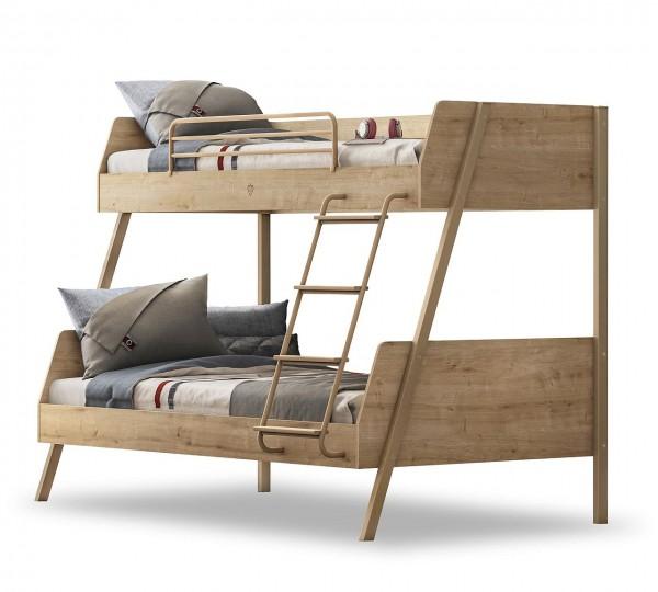 Etagenbett Oak Für 2 Kinder Mit Leiter 90x200 Und 120x200cm