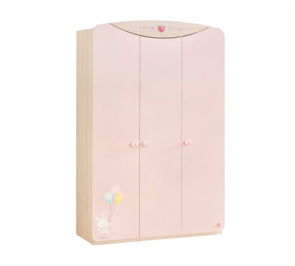 Kleiderschrank 3 türig in rosa Cilek Babygirl
