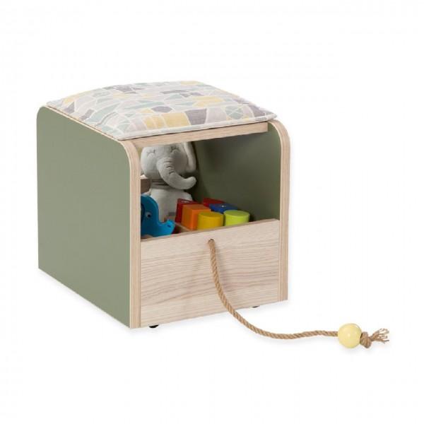 Nachtkonsole, Bettschrank, Rollcontainer, Toybox MONTI