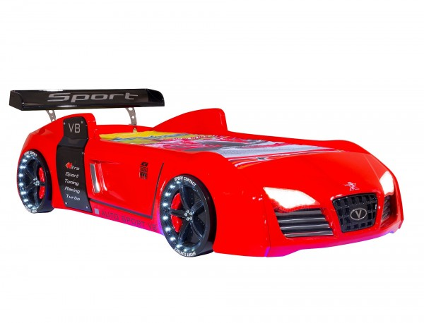Autobett TURBO V8 rot classic